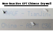 Non-Reactive KPT Chinese Drywall Picture