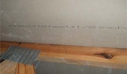 4 feet * 12 feet * 1/2 inches defective Chinese sheetrock